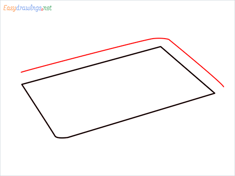 How to draw a Baking tray step (2)