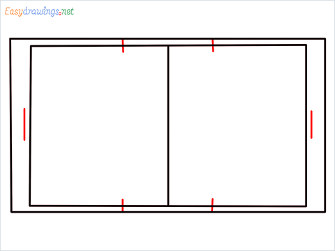 How to draw a Basketball court step (4)