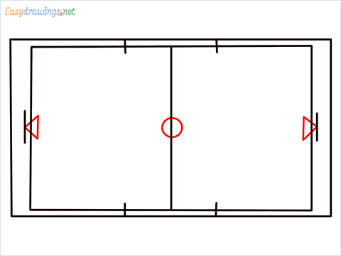 How to draw a Basketball court step (5)