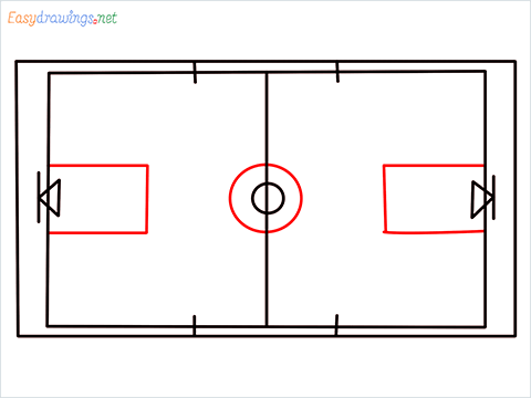 How to draw a Basketball court step (6)