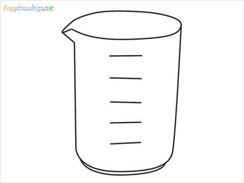 How to draw a Beaker step by step for beginners