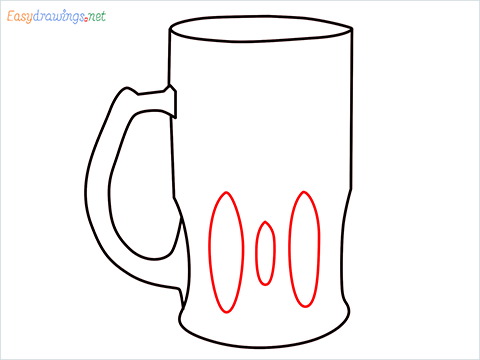 How to draw a Beer mug step (5)