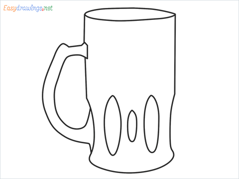 How to draw a Beer mug step by step for beginners