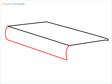 How to draw a Book step (3)