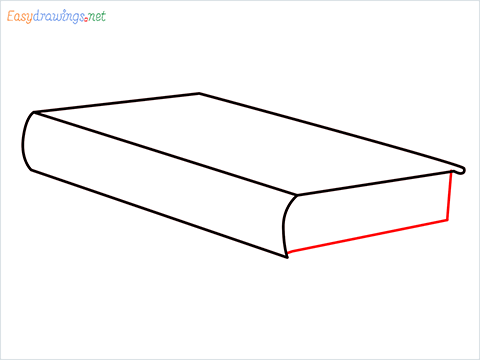 How to draw a Book step (4)