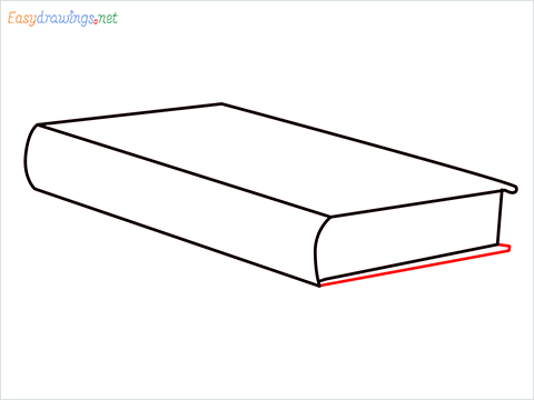 How to draw a Book step (5)