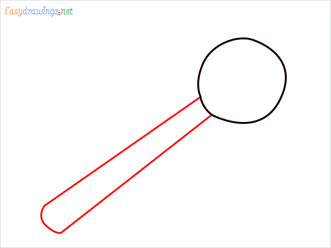 How to draw a Bowl ladle step (2)
