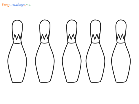 How to draw a Bowling Bottles (Pin) step by step for beginners