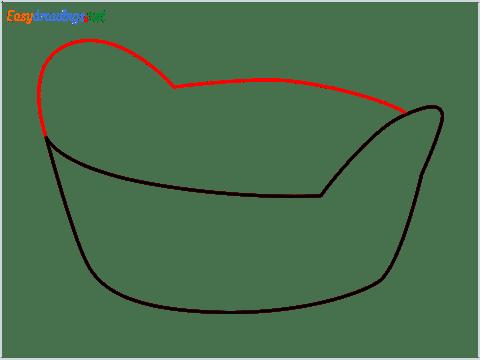 How to draw a Breadbasket step (3)