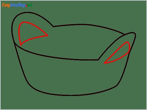 How to draw a Breadbasket step (4)