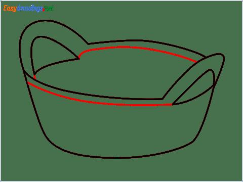 How to draw a Breadbasket step (5)