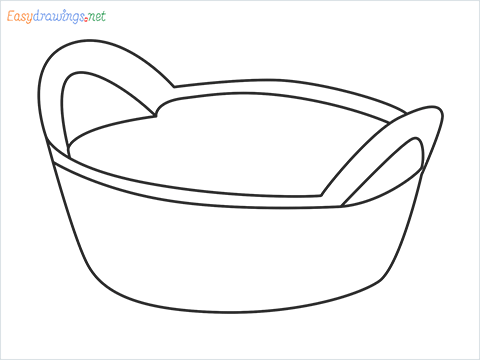 How to draw a Breadbasket step by step for beginners