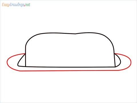 How to draw a Butter dish step (3)