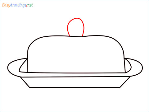 How to draw a Butter dish step (5)