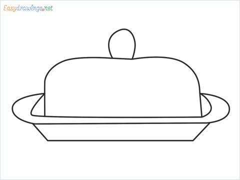 How to draw a Butter dish step by step for beginners
