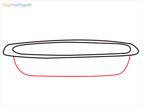 How to draw a Casserole dish step (3)
