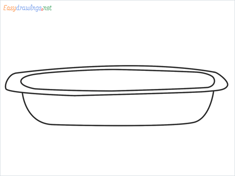 How to draw a Casserole dish step by step for beginners