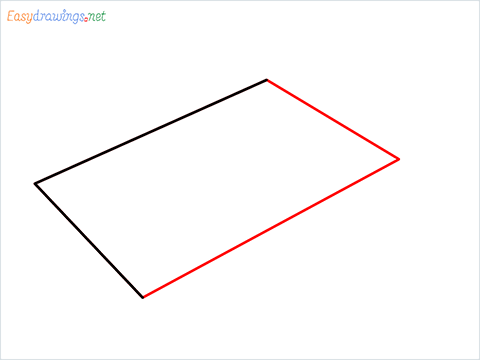 How to draw a Chopping board step (2)