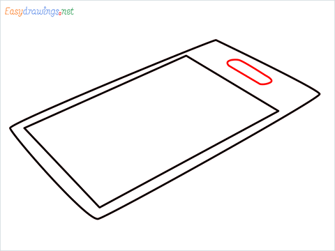 How to draw a Chopping board step (4)