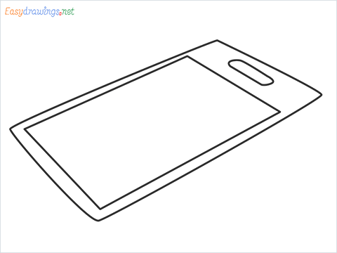 How to draw a Chopping board step by step for beginners