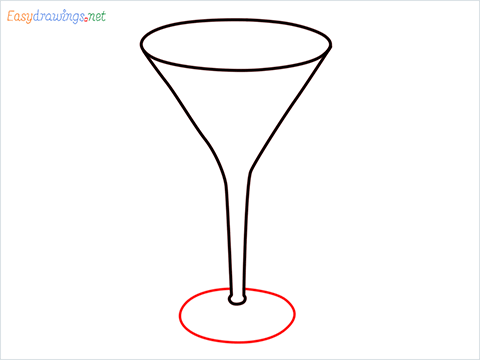 How to draw a Cocktail glass step (4)