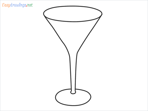 How to draw a Cocktail glass step by step for beginners