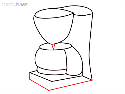 How to draw a Coffee maker step (10)