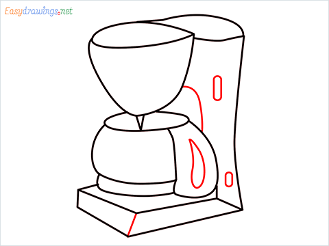 How to draw a Coffee maker step (11)