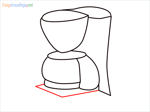 How to draw a Coffee maker step (9)