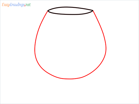 How to draw a Cognac balloon step (2)