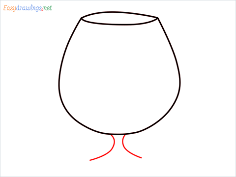 How to draw a Cognac balloon step (3)