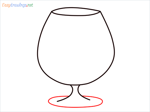 How to draw a Cognac balloon step (4)