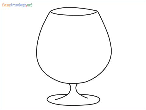 How to draw a Cognac balloon step by step for beginners