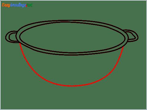 How to draw a Colander step (5)