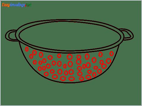 How to draw a Colander step (6)