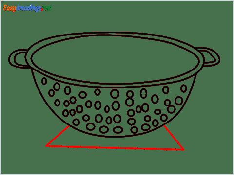 How to draw a Colander step (7)