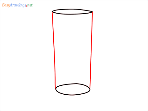 How to draw a Collins glass step (3)