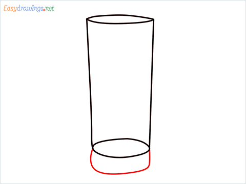 How to draw a Collins glass step (4)