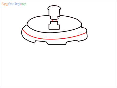 How to draw a Cooker step (5)