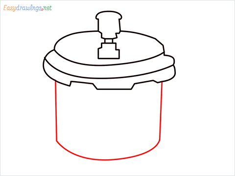 How to draw a Cooker step (6)