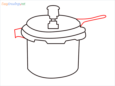 How to draw a Cooker step (7)