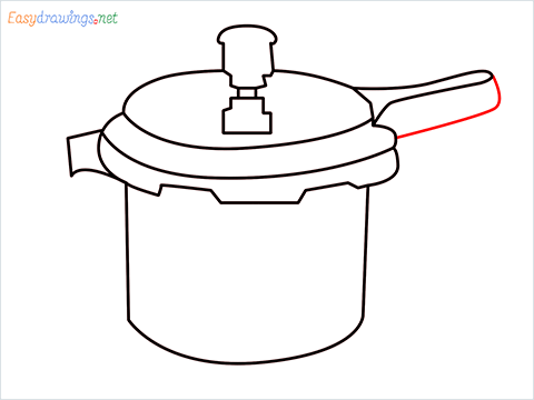 How to draw a Cooker step (8)
