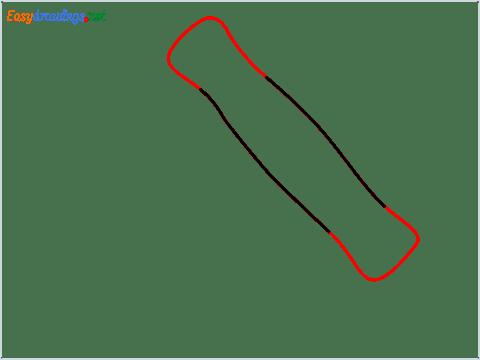 How to draw a Corkscrew step (2)