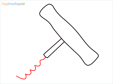 How to draw a Corkscrew step (4)
