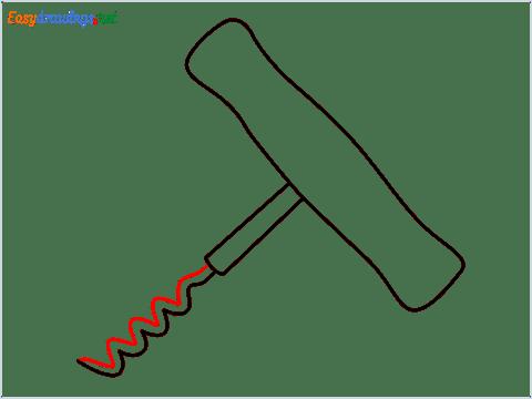 How to draw a Corkscrew step (5)