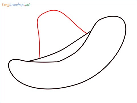 How to draw a Cowboy hat step (4)