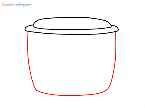 How to draw a Crockpot step (3)