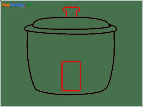How to draw a Crockpot step (4)