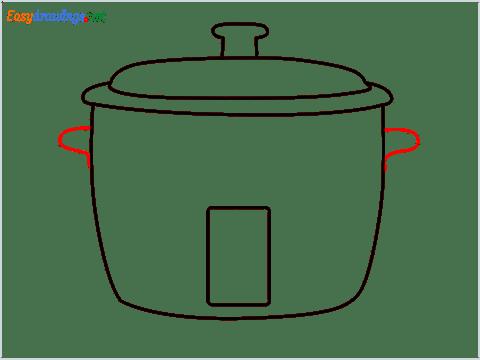 How to draw a Crockpot step (5)