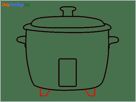 How to draw a Crockpot step (6)